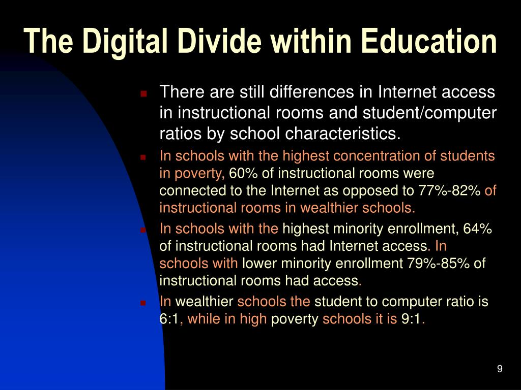 The Digital Divide within Education