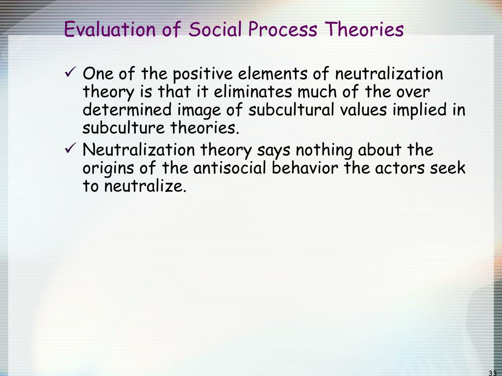 self control theory of crime evaluation The general theory of crime holds that self-control is established in early childhood through counteractive self-control theory states that when presented with.