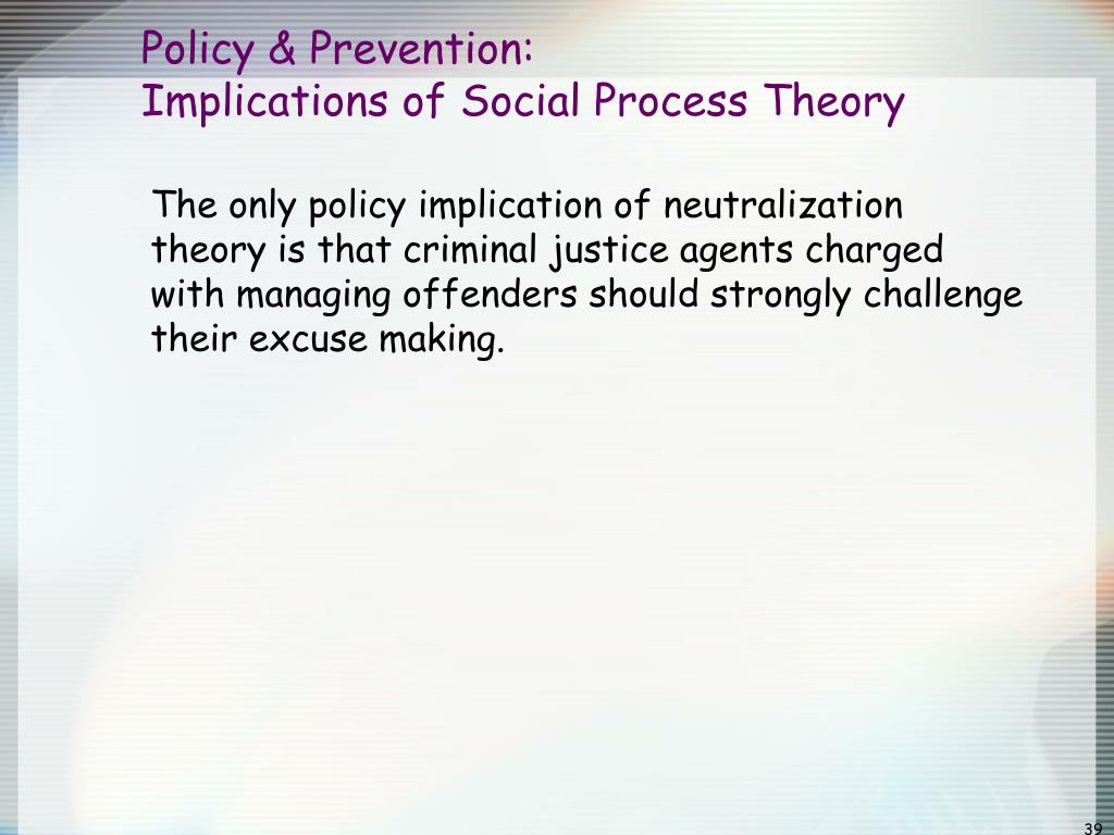 what are the implications of criminal theories to social policy Crime - crime and social policy: crime is a feature of all societies at all times   of such factors have been shown to have long-term crime-reduction effects.