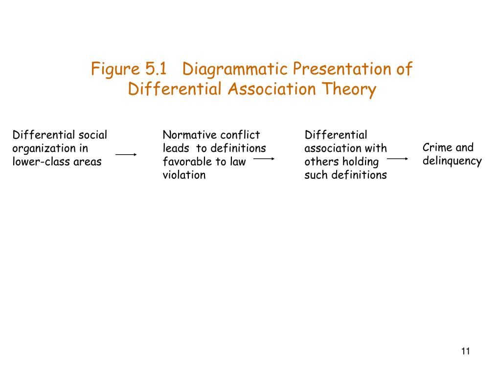 theory of differential association essay Lippincott, philadelphia, sutherland (1947)] concept of differential social organization, the sociological counterpart to his social psychological theory of differential association differential social organization contains a static structural component, which explains crime rates across groups, as well as a dynamic collective.