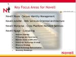key focus areas for novell