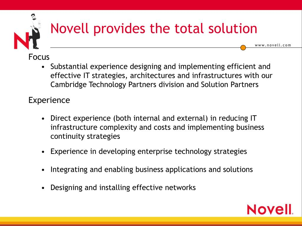 Novell provides the total solution