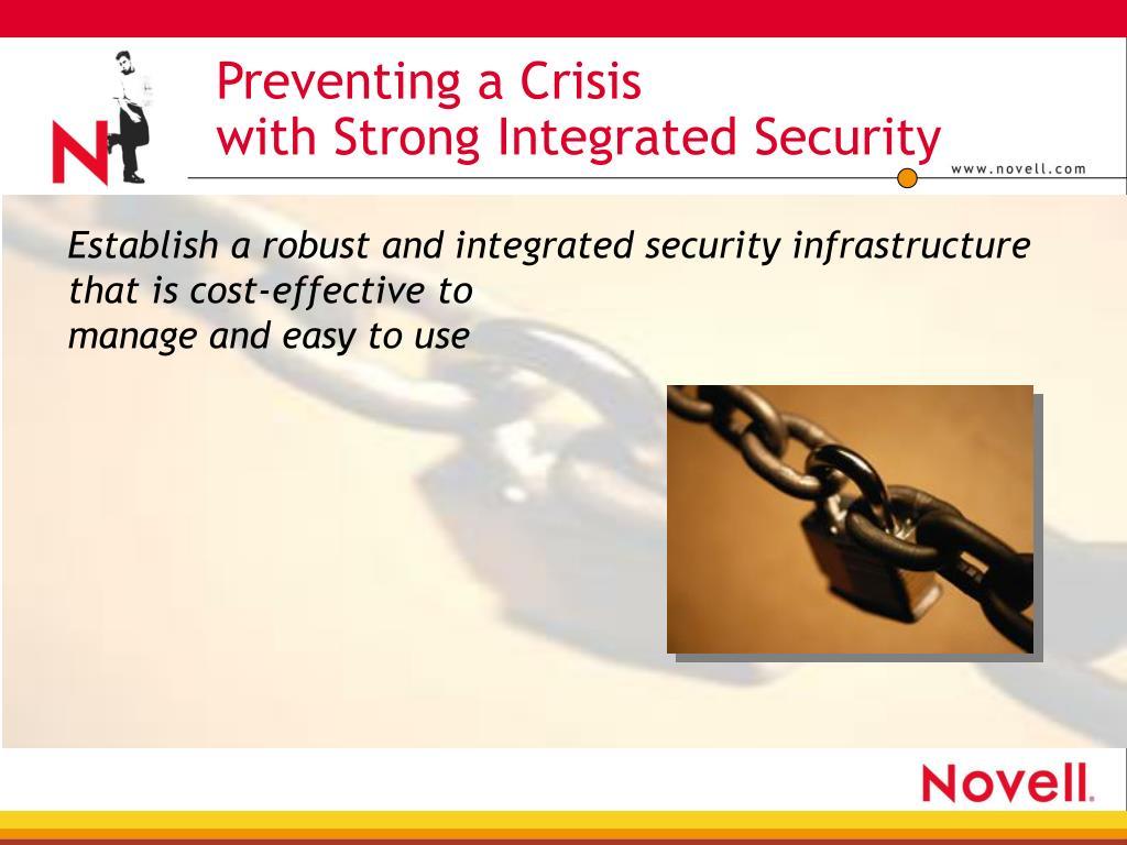 Preventing a Crisis