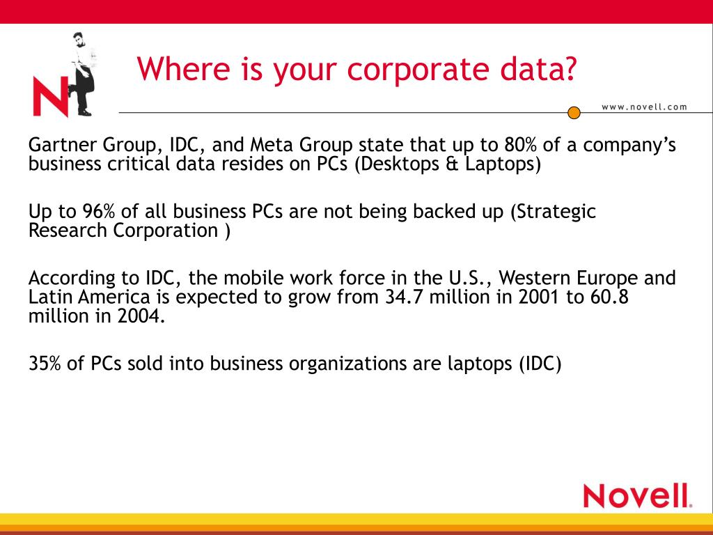 Where is your corporate data?