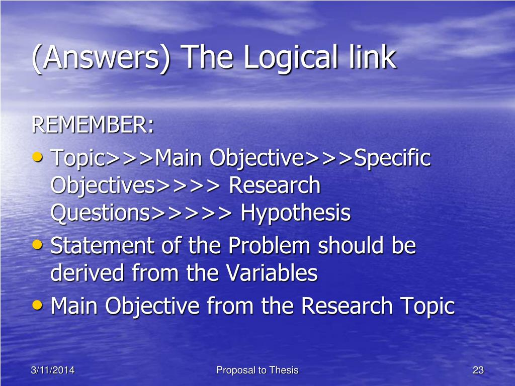 (Answers) The Logical link