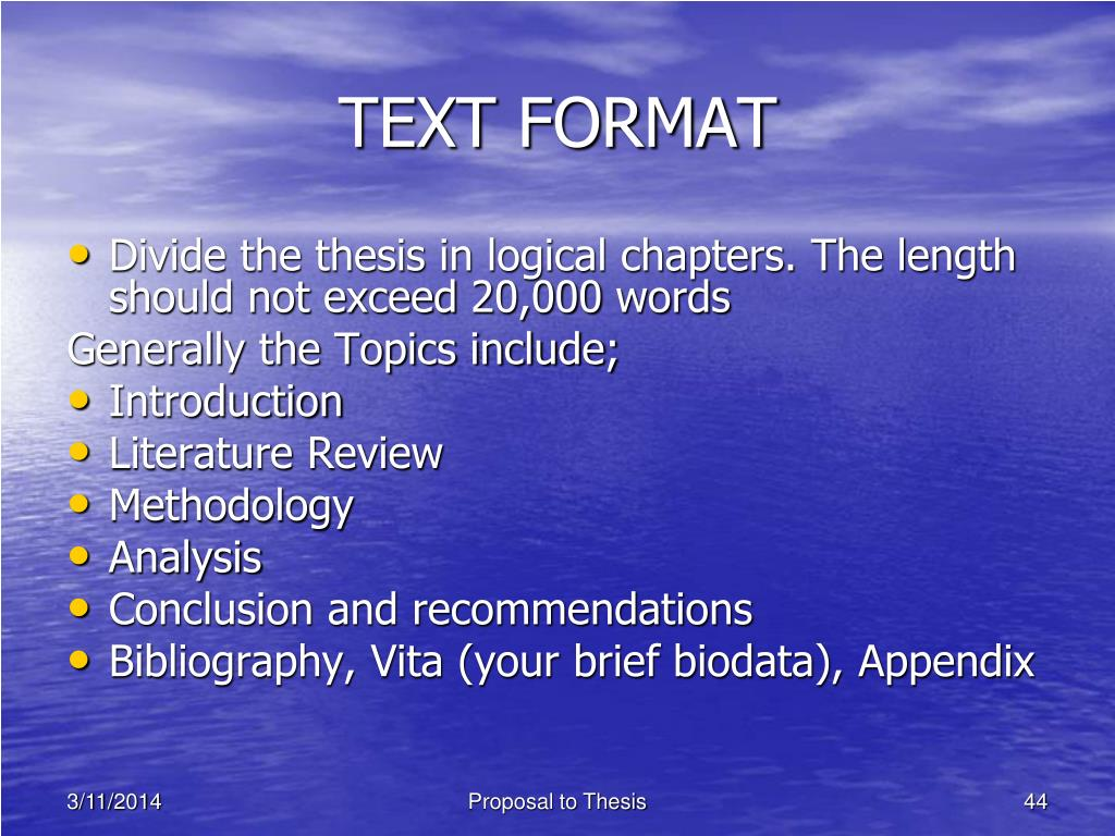 TEXT FORMAT