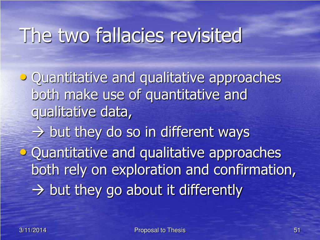 The two fallacies revisited