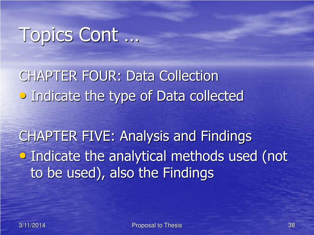 thesis chapter 5 findings