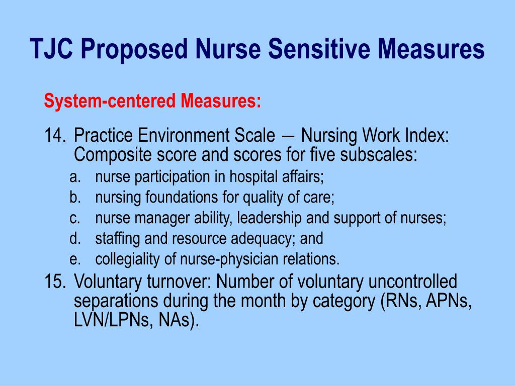 nurse sensitive performance reviews and quality indicators What are the ahrq quality indicators the quality indicators (qis) developed and maintained by the agency for healthcare research and quality (ahrq) are one response to the need for multidimensional, accessible quality measures that can be used to gage performance in health care.