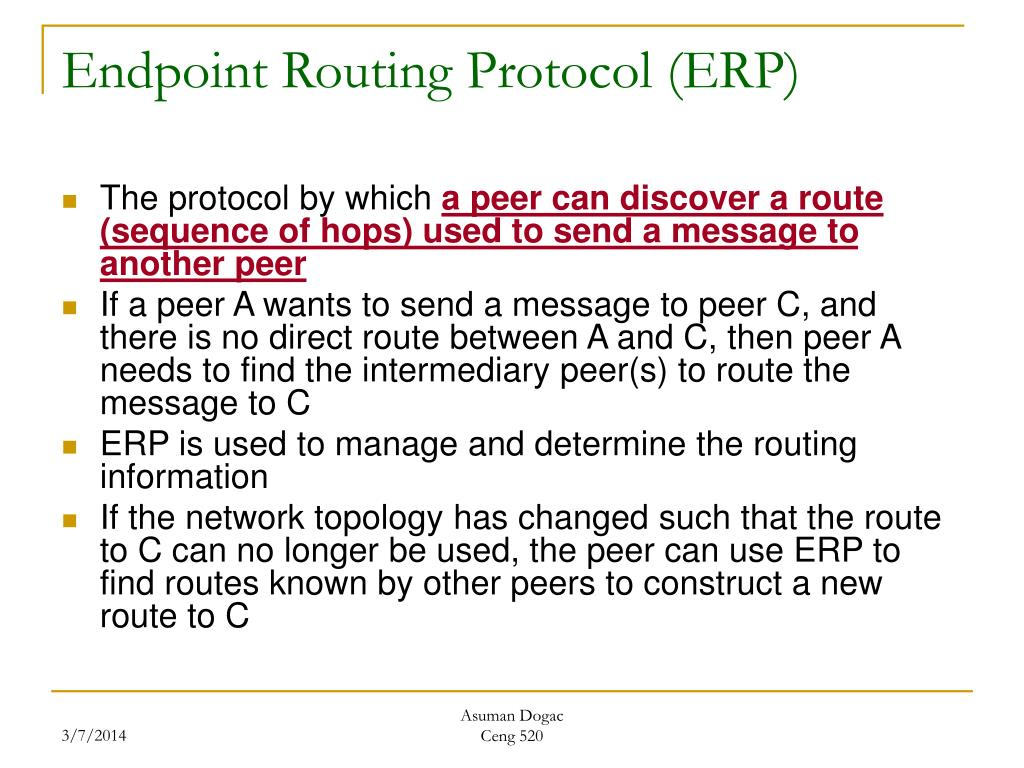Endpoint Routing Protocol (ERP)