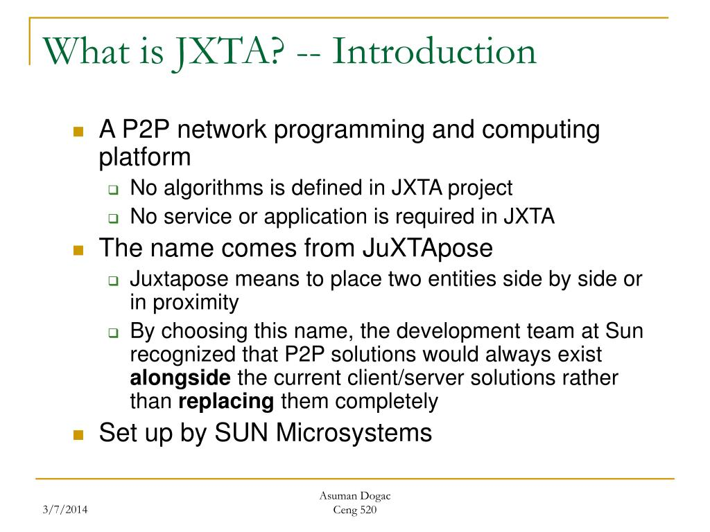 What is JXTA? -- Introduction