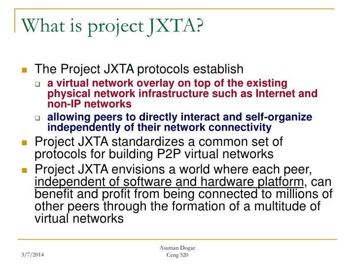 What is project jxta