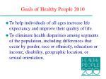 goals of healthy people 2010