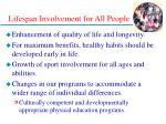 lifespan involvement for all people28