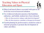teaching values in physical education and sport7