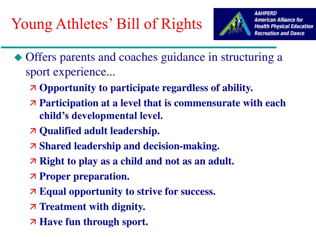 Young Athletes' Bill of Rights
