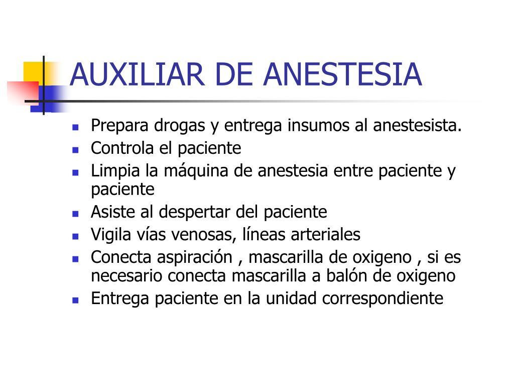 AUXILIAR DE ANESTESIA