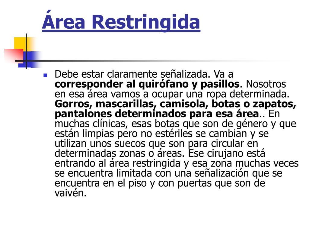 Área Restringida