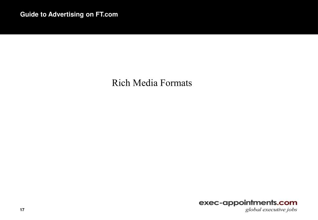 Guide to Advertising on FT.com