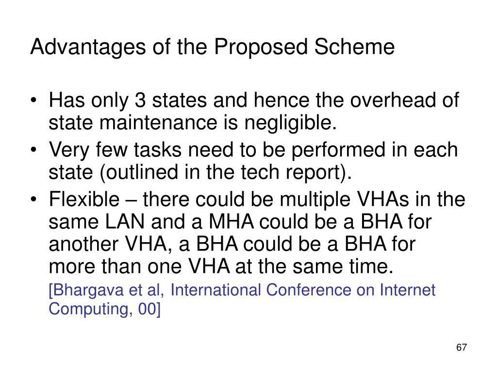 Advantages of the Proposed Scheme