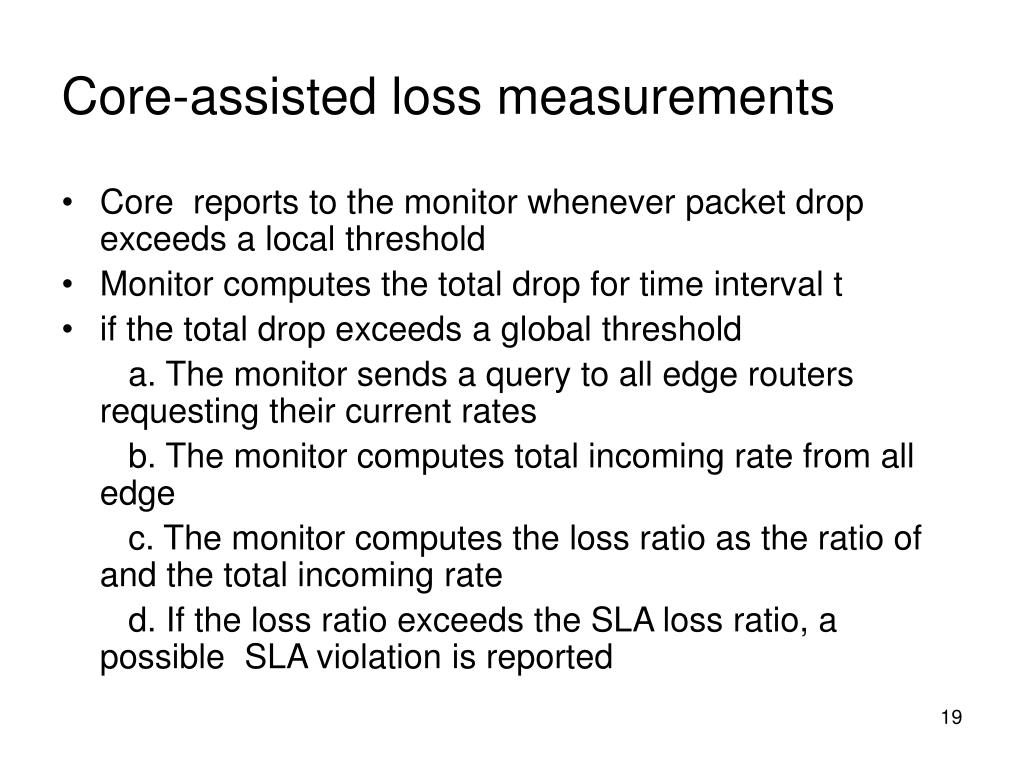 Core-assisted loss measurements