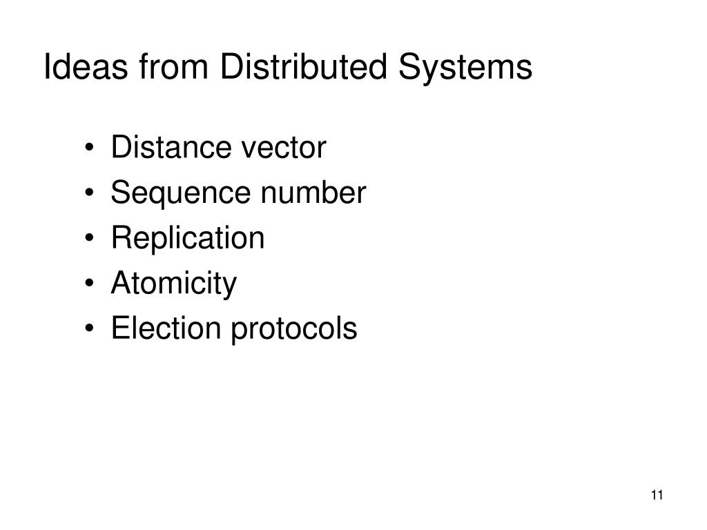 Ideas from Distributed Systems