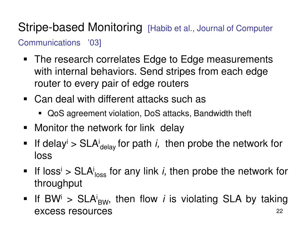 Stripe-based Monitoring
