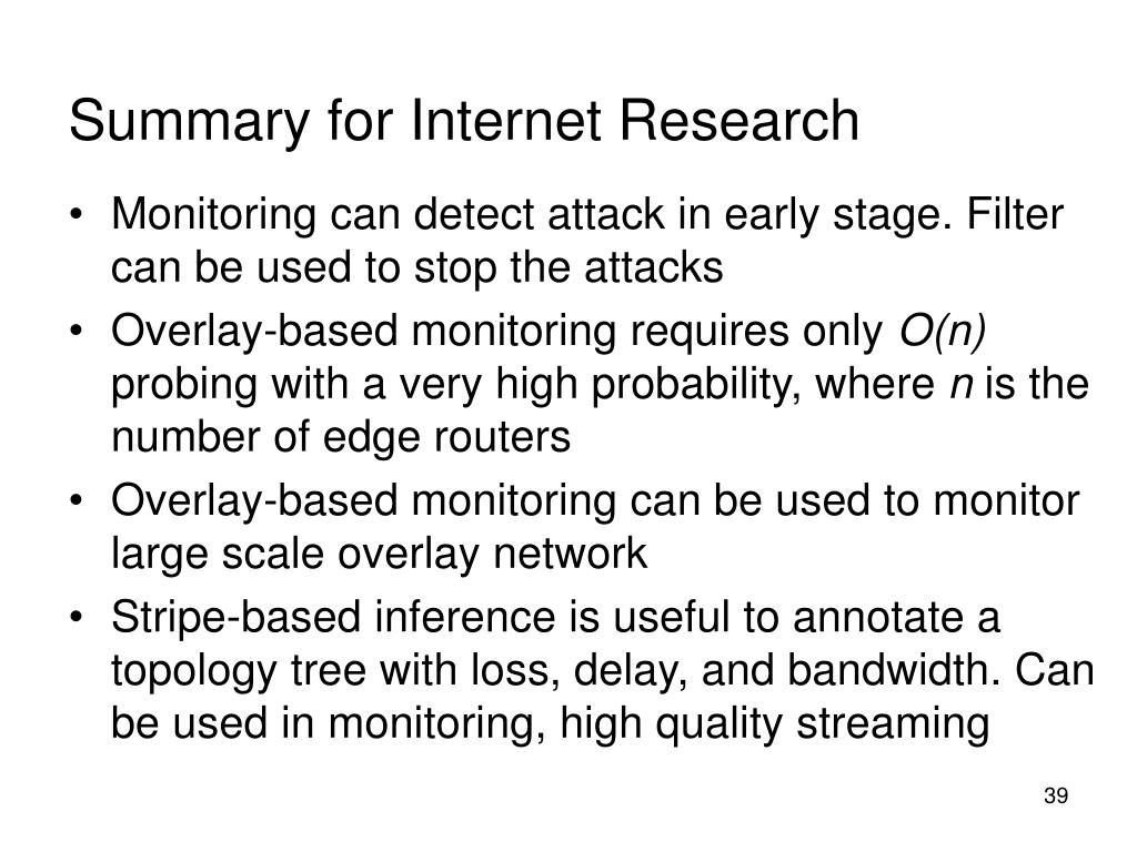 Summary for Internet Research