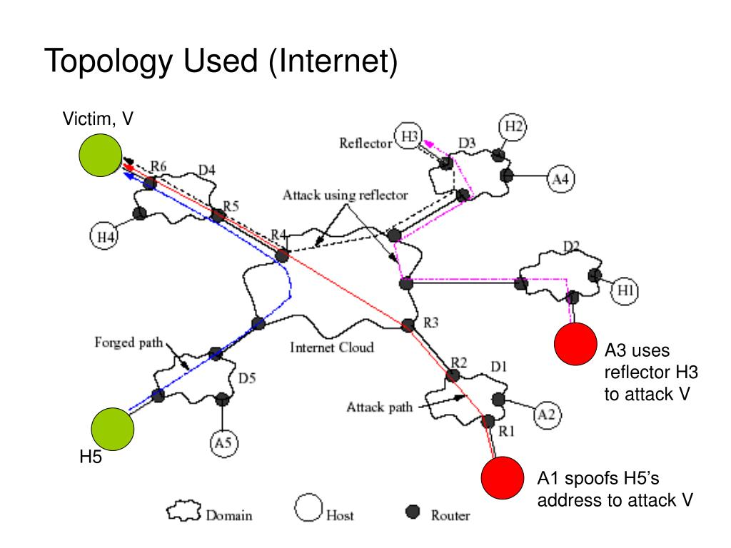 Topology Used (Internet)