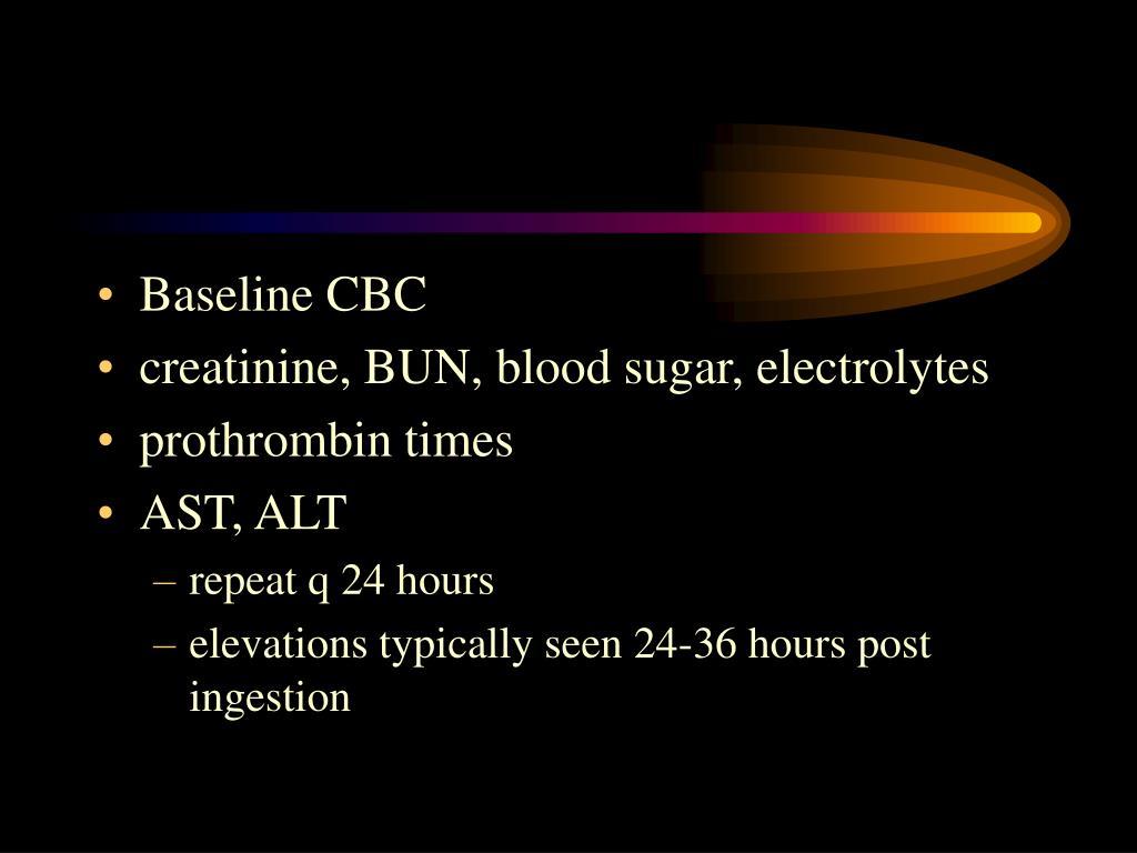 Baseline CBC