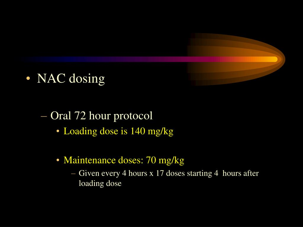 NAC dosing