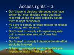 access rights 3