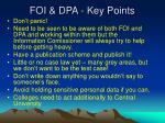 foi dpa key points