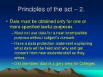 principles of the act 2