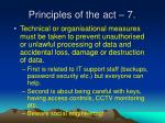 principles of the act 7