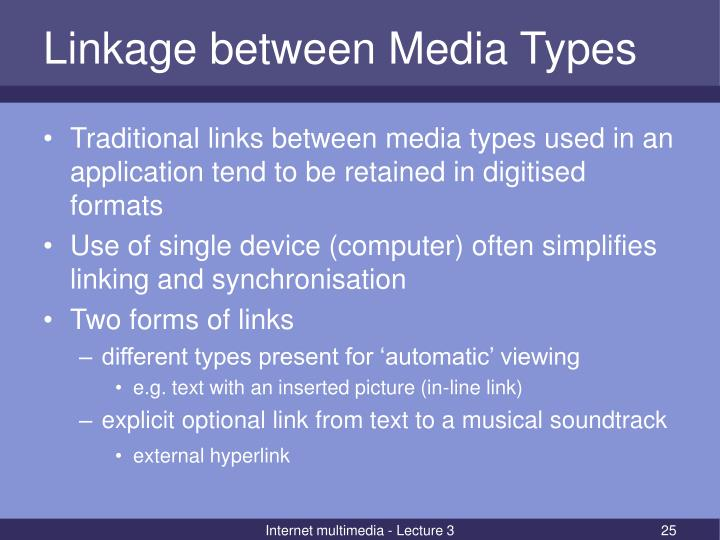 Linkage between Media Types
