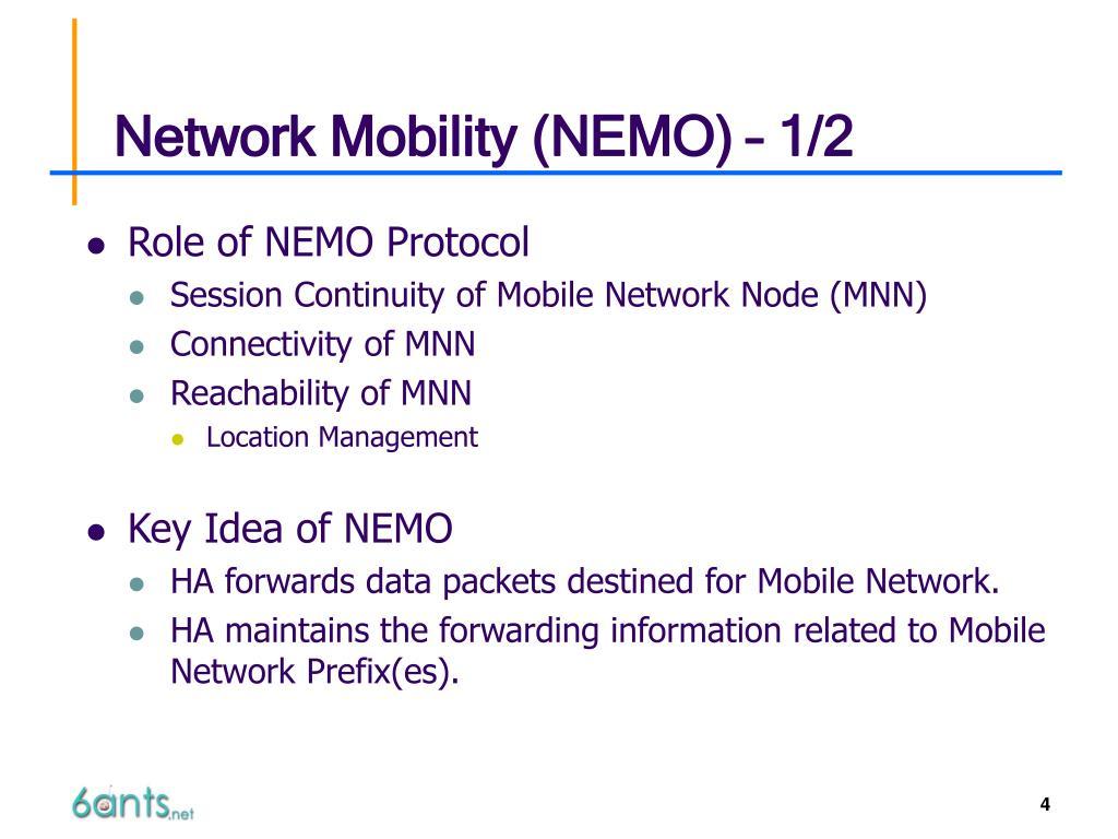 Network Mobility (NEMO) – 1/2