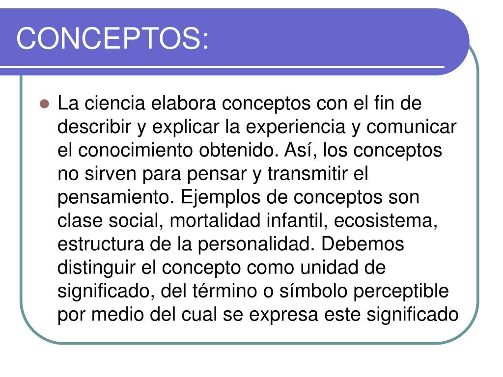 CONCEPTOS: