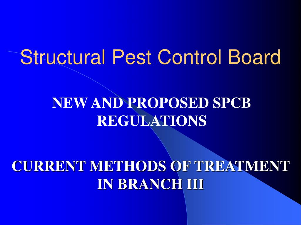 Structural Pest Control Board