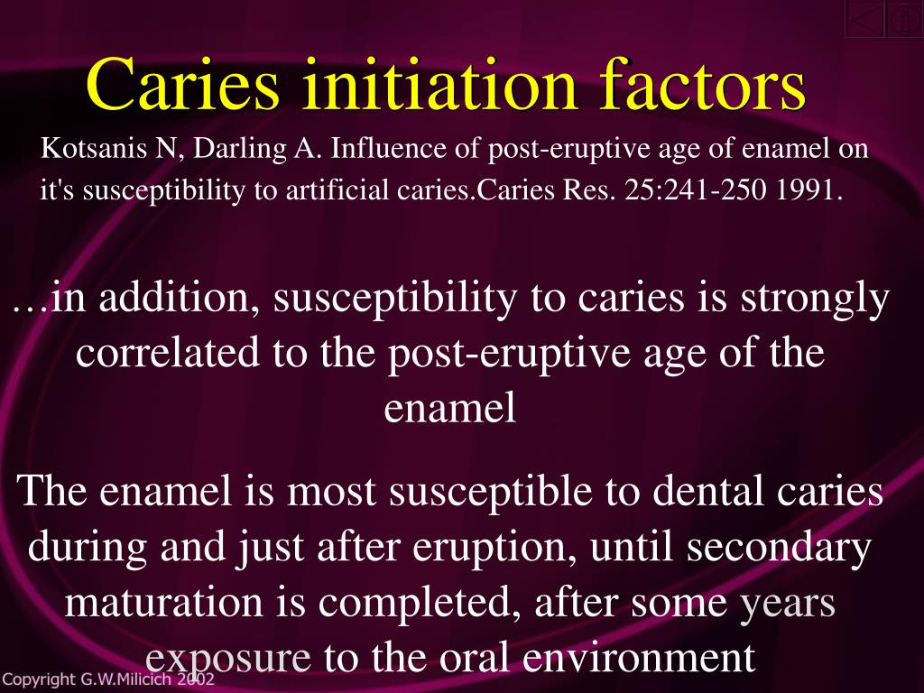Caries initiation factors