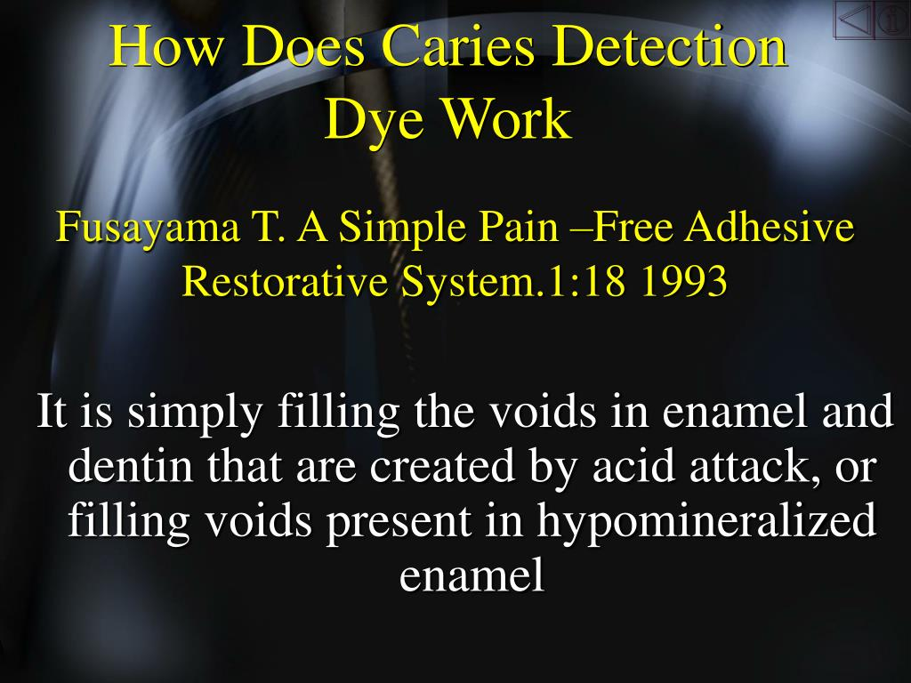 How Does Caries Detection Dye Work
