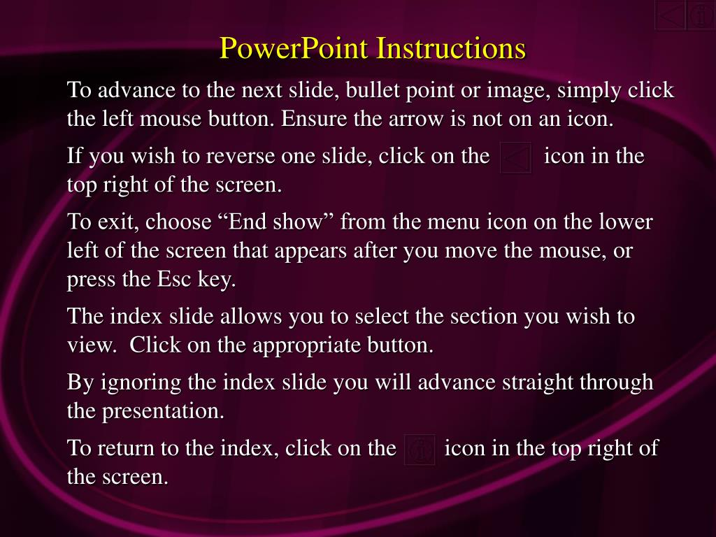 PowerPoint Instructions