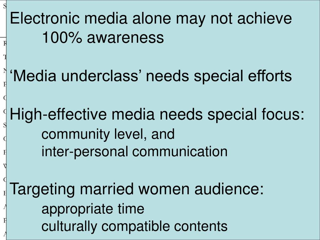 Electronic media alone may not achieve