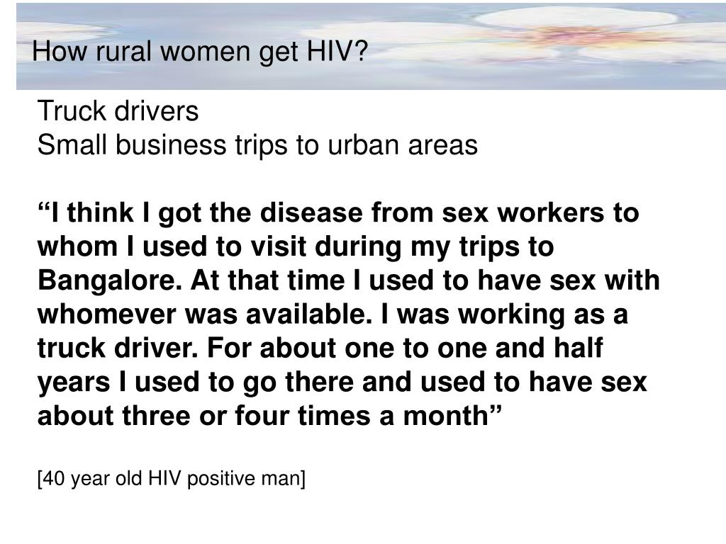 How rural women get HIV?