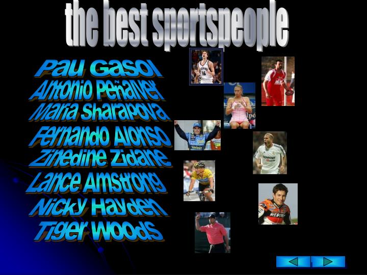 The best sportspeople