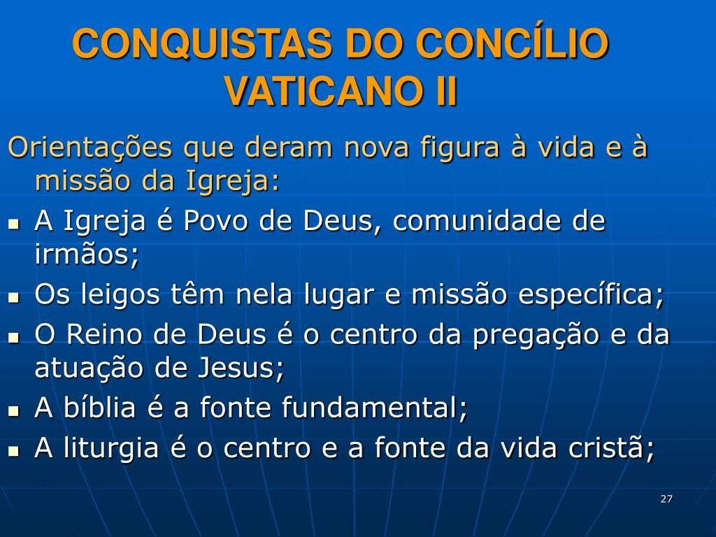 CONQUISTAS DO CONCÍLIO VATICANO II