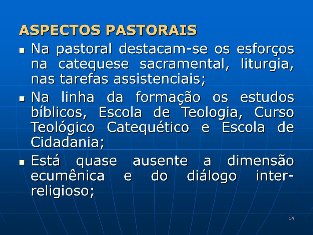 ASPECTOS PASTORAIS