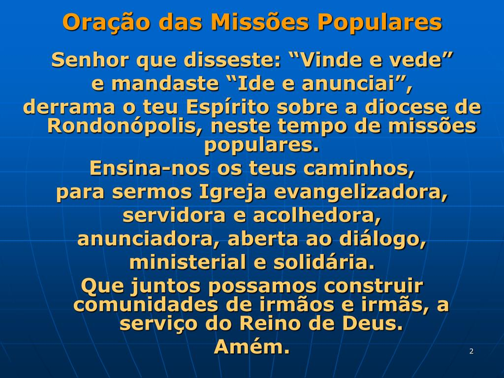 Oração das Missões Populares