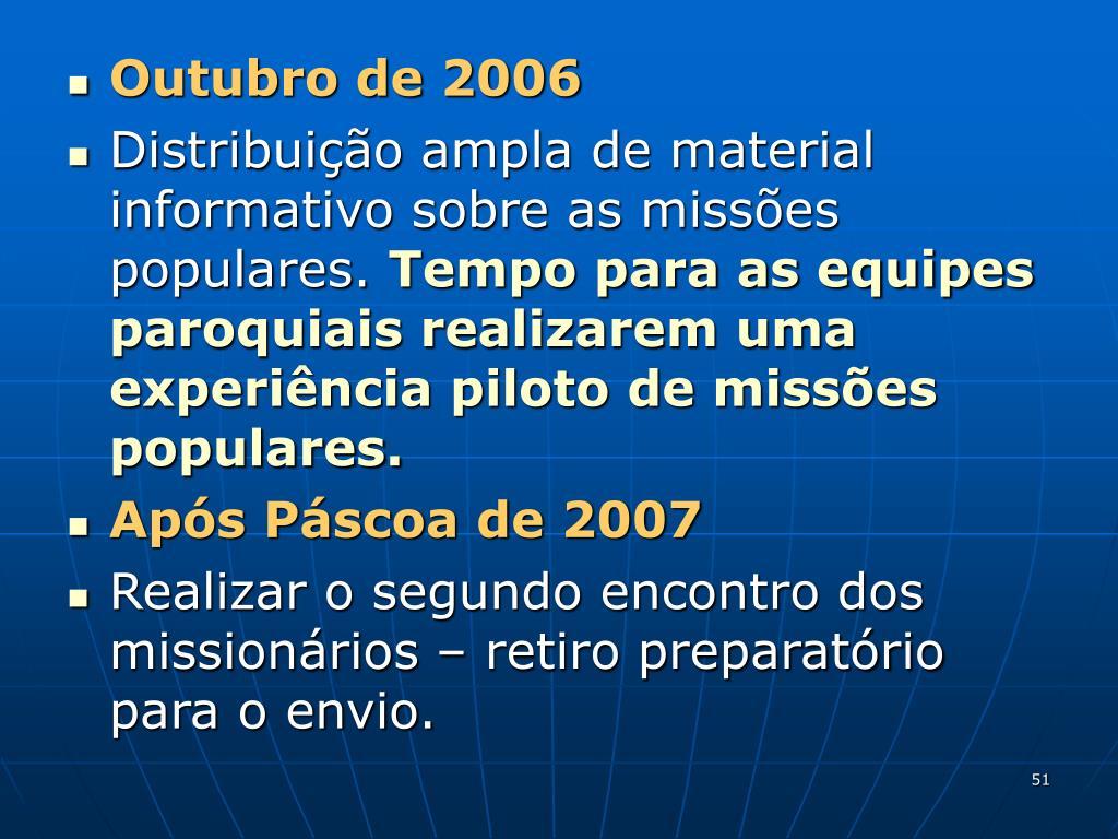Outubro de 2006
