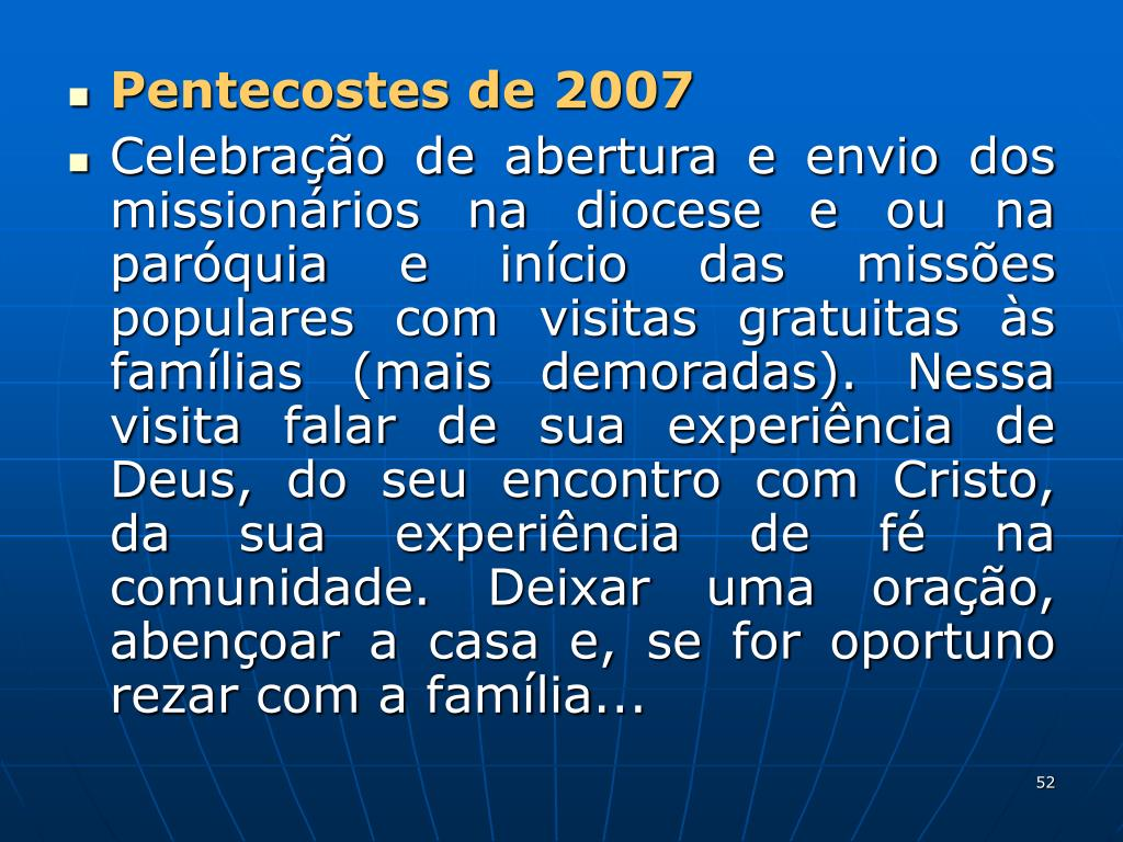 Pentecostes de 2007